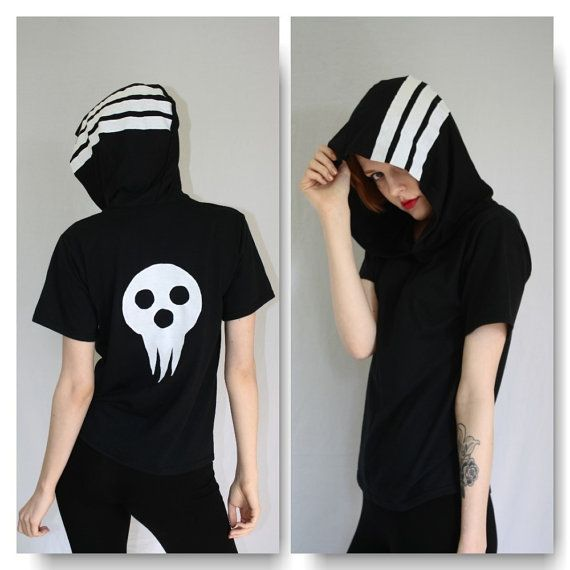SOUL EATER Death the kid hooded tee by TheGr8Pretender on Etsy