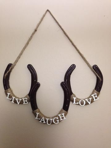 This rustic horseshoe would make a perfect addition to any room in your house, garage, horse trailer, or barn! It would also make a great gift for friends and family. Horseshoes measure approx. 4 1/2""
