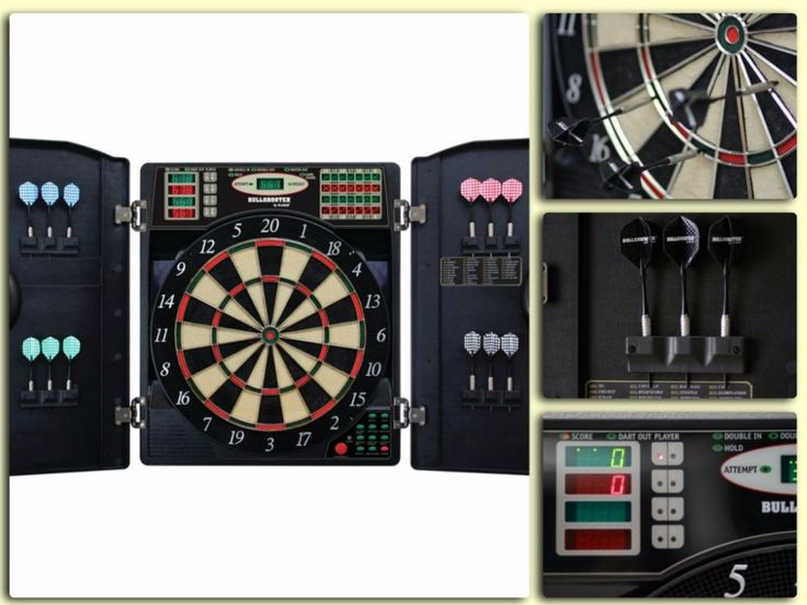 Arachnid Dart Board Electronic Cabinet Indoor Game Cricket New Bullshooter Game #Arachnid
