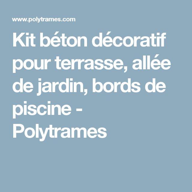 Kit béton décoratif pour terrasse, allée de jardin, bords de piscine - Polytrames