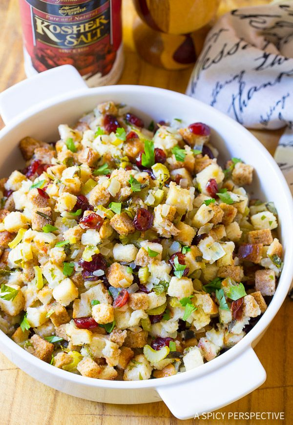 Easy Slow Cooker Thanksgiving Stuffing Recipe to keep your oven and stovetop open for other dishes! This buttery herb-packed Thanksgiving Dressing Recipe is