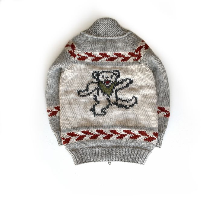 Grateful Dead dancing bear sweater for John Mayer and The Dead and Company.