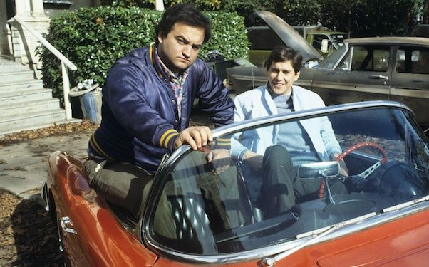 John Belushi and Tim Matheson. 'Animal House' the movie that started the frat house movie craze and its influence continues into modern day ripoffs like American Pie to this day. Bluto:Stiffler?