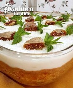Feigenpudding Dessert Rezept   – Börek çörek