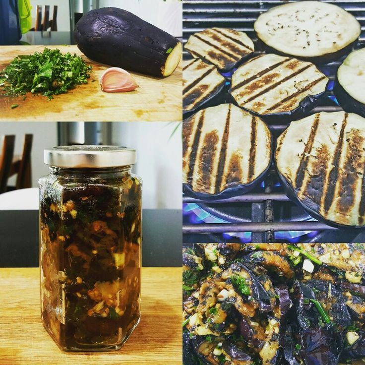 Homemade Italian style grilled eggplant + homegrown herbs.  Chop basil parsley garlic. Grill eggplant over open flame. Chuck all ingredients in a bowl add olive oil as much as you need. Add vinegar + salt to your taste. Bam.