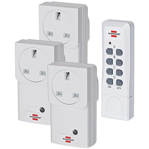 From 17.65 Brennenstuhl Rcs 1000 N Comfort Remote Control Set 3 Remote Control Socket Set (with Remote Control And Child Proof Device) Colour: White