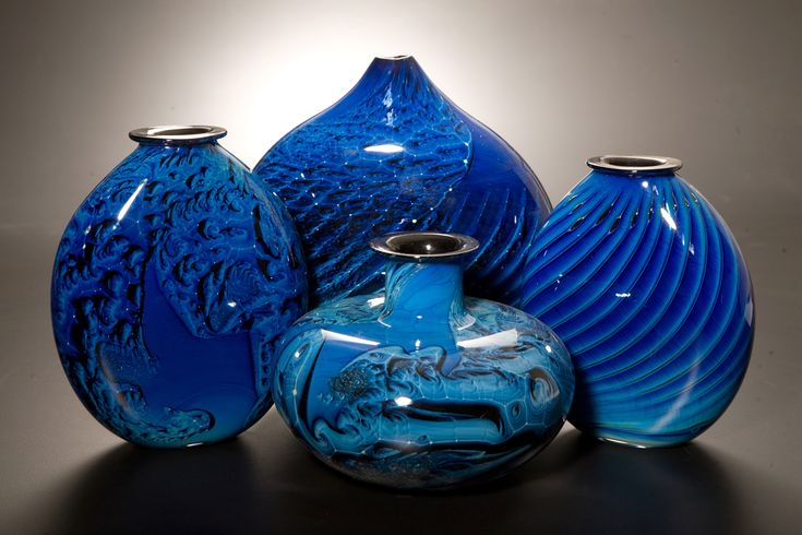 #glass #art - New Mexico Blue Vases by Josh Simpson ...