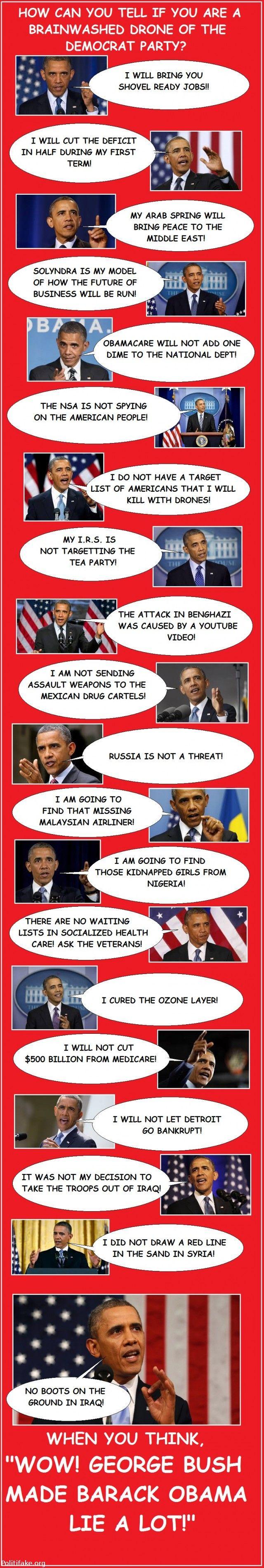 OBAMA CARTOONS: 20 blatant lies of Barack Obama