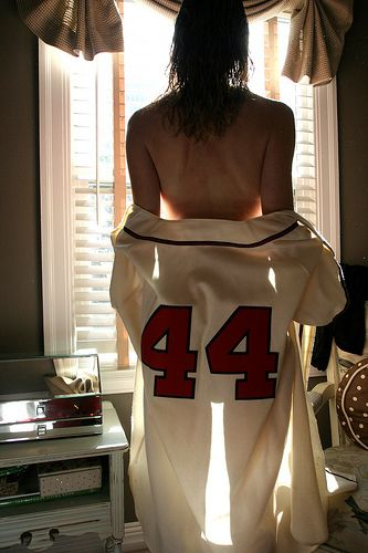 boudoir. in his jersey. super cute!