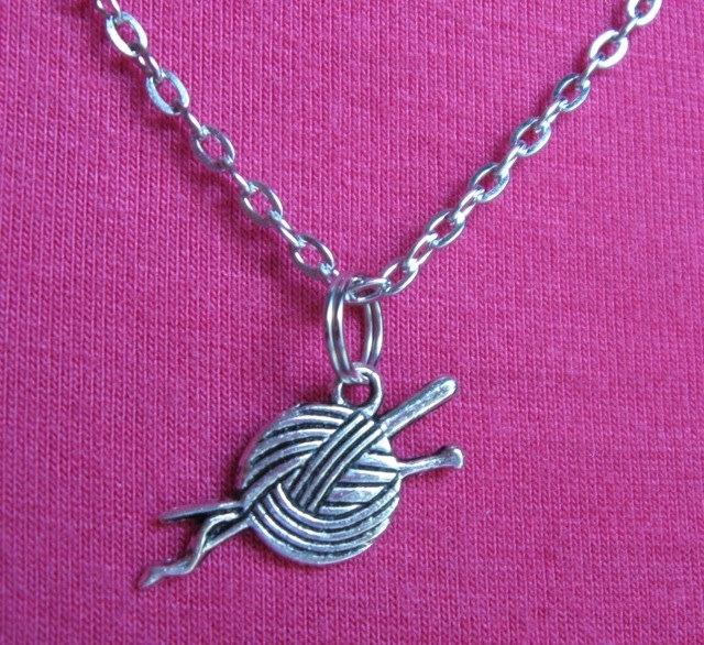 BALL OF YARN necklace. $17.00.  Love this!