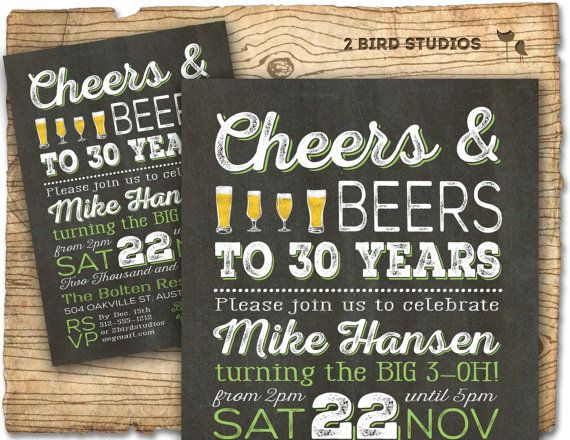 50th Birthday Invitation- Surprise Party 50th birthday invite - 50th birthday party DIY printable invitation - chalkboard - 30th 40th 60th