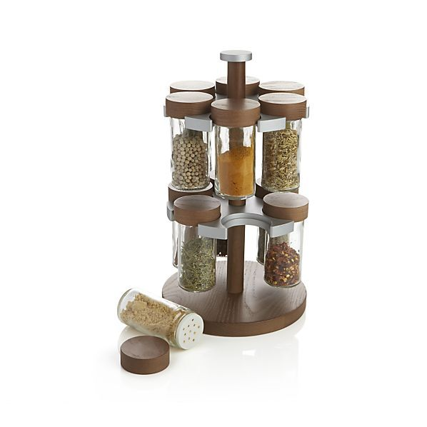 12 Bottle Revolving Spice Rack    Crate and Barrel