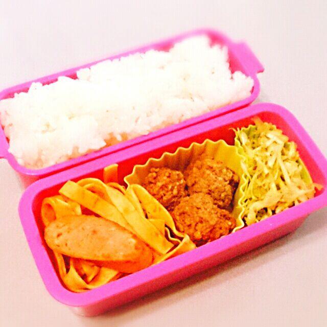 今日はお子さまランチ風のお弁当メニューに(*≧ω≦) - 31件のもぐもぐ - 3/24 ミートボール&ナポリタン弁当 by chanuri