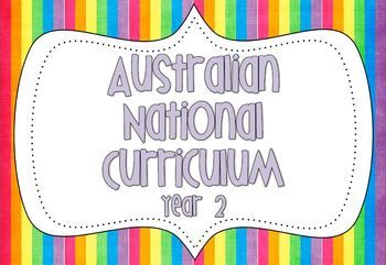 Year 2 Australian National Curriculum Posters