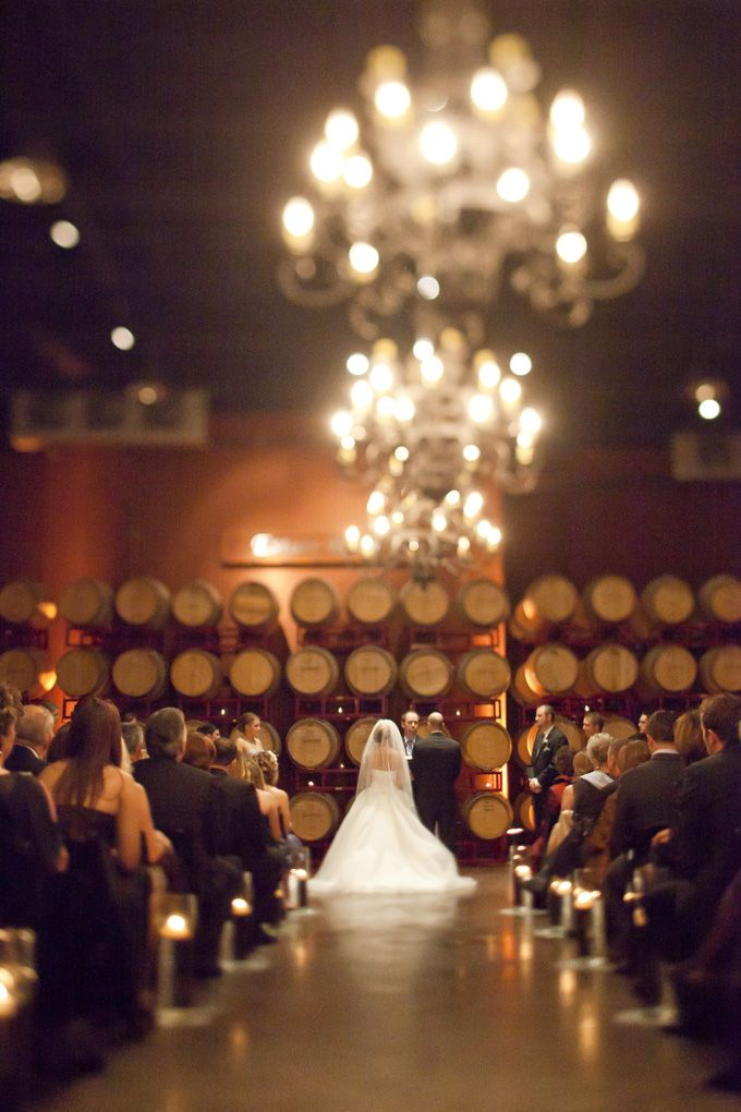Can A Wine Cellar With Chandeliers Possibly Be Trumped As Wedding Venue Just