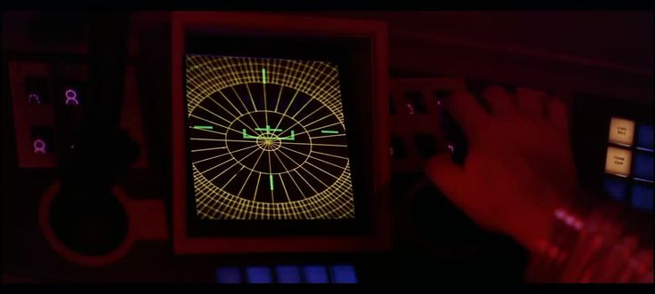 "Navigation UI (User Interface) for the film ""2001 A Space Odyssey"" Directed by Stanley Kubrick. Distributed by Metro-Goldwyn-Mayer"