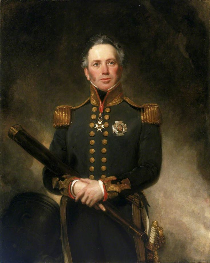 """Rear-Admiral Sir Edward Brace (c.1769–1843)"" by Henry William Pickersgill (1782-1875).  National Maritime Museum"