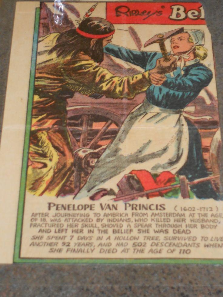 Penelope Van Princis Kent Stouts story in Ripleys Believe It or Not  His Family Tree