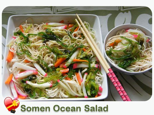 how to make somen salad