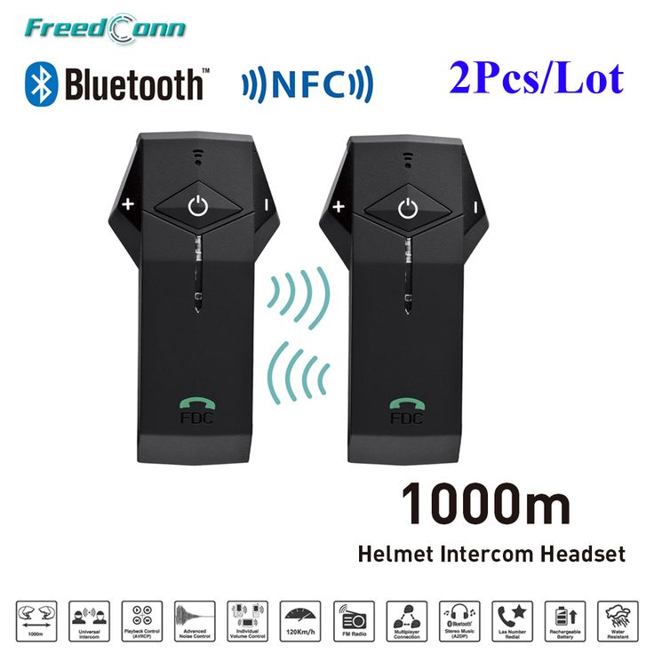 ==> [Free Shipping] Buy Best 2pcs FDC COlO-RCL3 1000M BT NFC FM Radio Function Motorcycle Helmet Bluetooth Intercom Headset Interphone for Rider Helmet Online with LOWEST Price | 32801715559