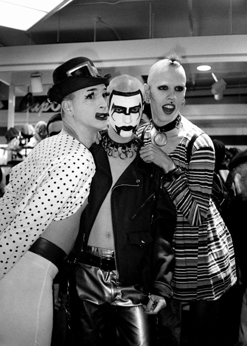 NYC club kids originals Michael Alig, Christopher Comp and WaltPaper -  pinned by RokStarroad.com