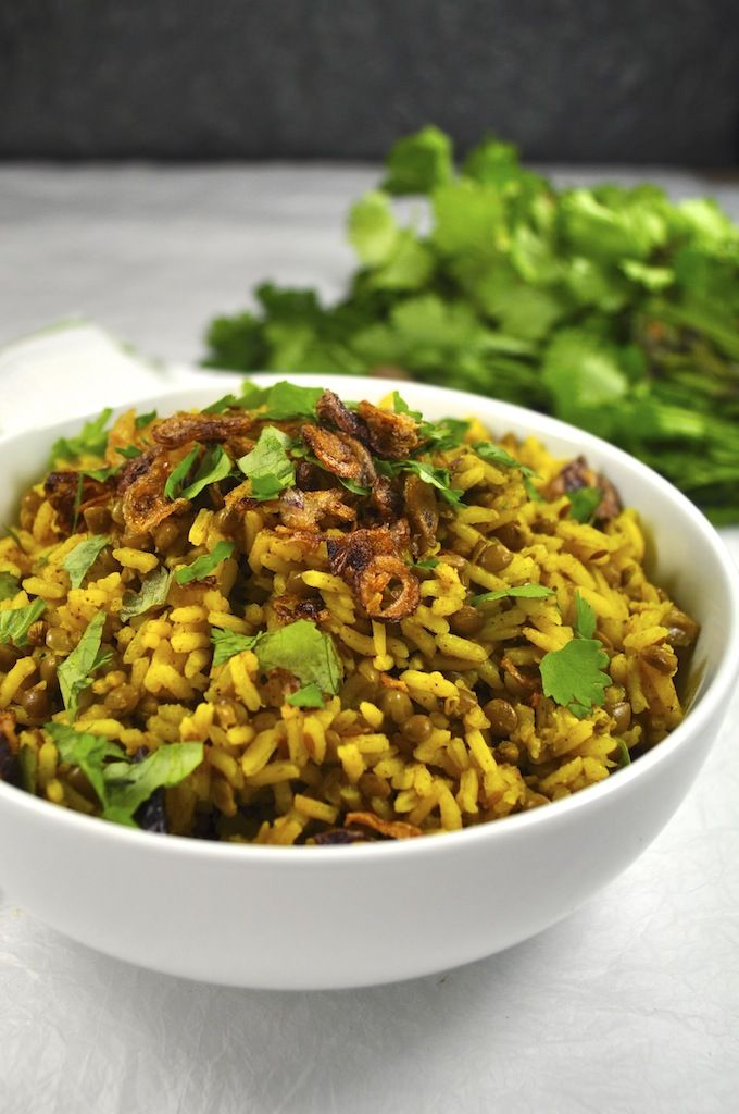 Mejadra (Vegan) - Middle Eastern spiced rice, only takes 15 minutes to make, absolutely full of flavour!