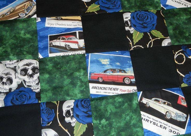 Annons på Tradera: Rockabilly Raggare Barnvagn Baby Täcke Lapptäcke Babyfilt Lekmatta Filt,Chrysler