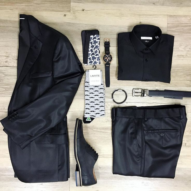 Smart and luxurious style. Black and black with a little sneaky fun at your feet. //Lagerfeld suit (on sale) Versace shirt Florsheim shoes NEW Lafitte socks Ted Baker belt Cudworth cuff and Otumm watch.  #mensfashion #trampsthestore #wollongong #Lagerfeld #Versace #Florsheim #weekend #dateday #Datenight #mensfashion #ootd #jeans #dapper #gent #flatlay #SpringSummer #tailoredfashion #menWithStyle #BlackSuit #Suit #outfit