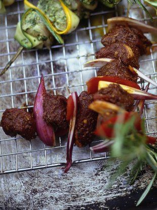 Marinated Lamb Kebabs | Lamb Recipes | - Sosaties - Sosaties are South Africa's version of shish kebabs. While the type of meat used varies, Pinotage prefers tender cubes of lamb to bring out its earthy flavour.....(Jamie Oliver Recipes)