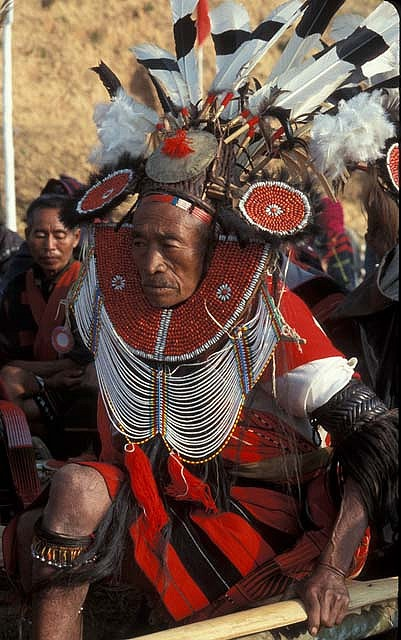 Myanmar, Burma. | Festival Naga headdress. | ©deepchi1, via flickr