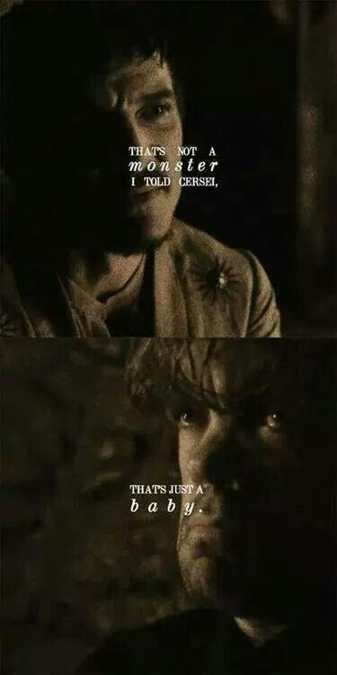 That's just a baby ~ Oberyn Martell and Tyrion Lannister ~ Game of Thrones
