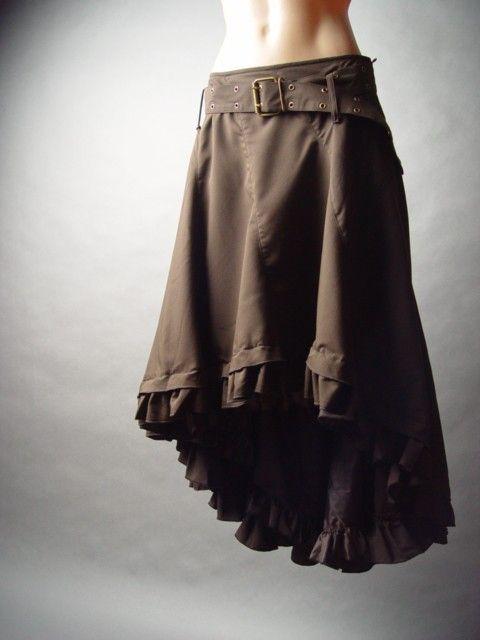 Western Steampunk Victorian Prairie Riding Long Tail Hem Petticoat Belt Skirt XL | eBay