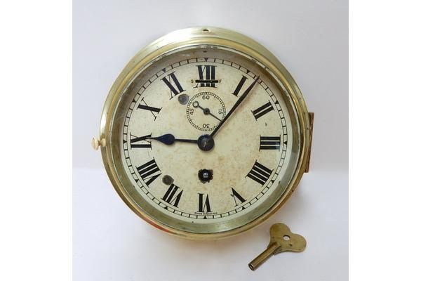 #Vintage Smiths Bulkhead Clock | Vinterior London  #design #1940 #original #bezel