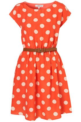 not sure how I look in giant polka dots, but it's cute!: Polka Dots, Summer Dress, The Dress, Orange Polka, Polka Dot Dresses, Polkadots, Orange Dress
