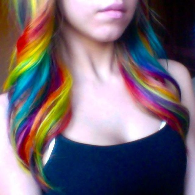 Rainbow Hair Dye Tips