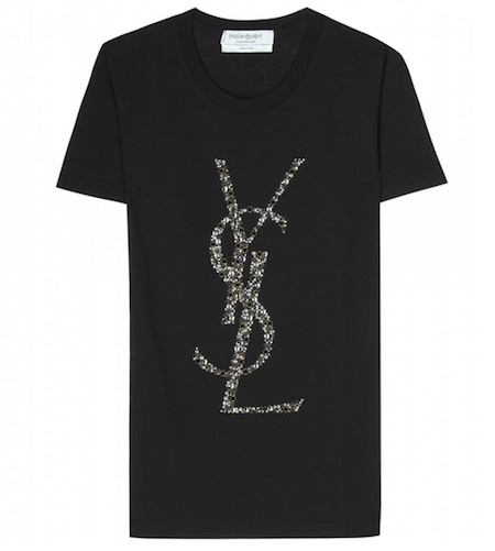 Yves Saint Laurent Crystal Embellished Logo T-Shirt MUSTHAVE ALARM!!!!