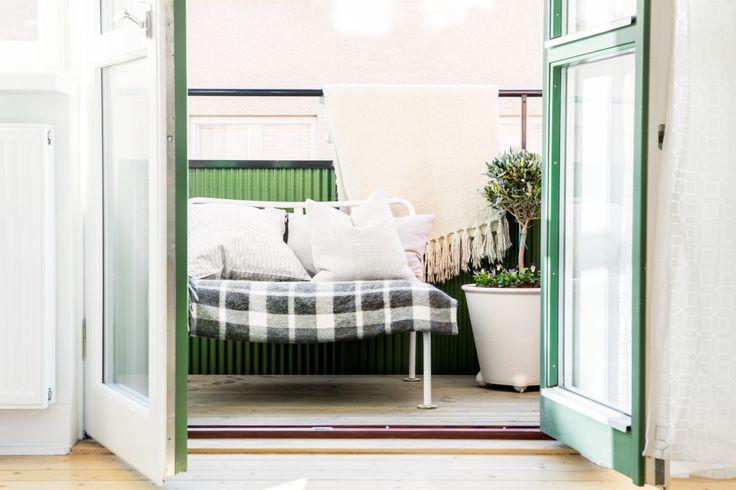 Grönt skönt balkong södermalm 40-talet