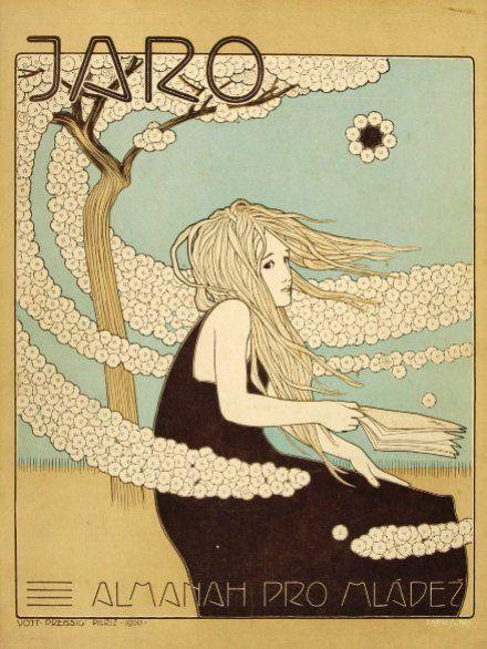"Design ""Spring"" byVojtěch Preissig, 1901. www.esbirky.cz, CC0"