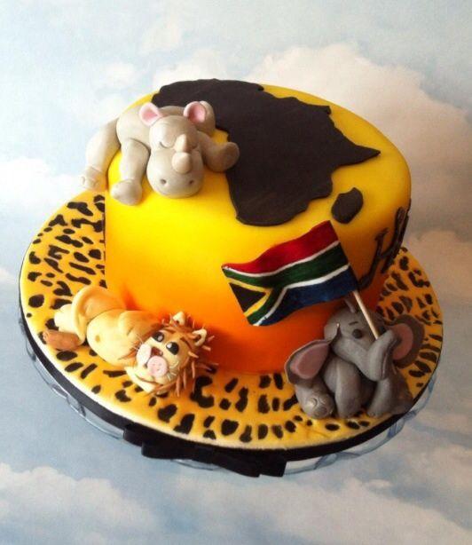 African themed birthday cake