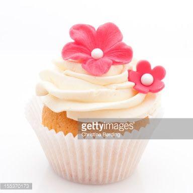 cupcake white icing po k flower - Google Search