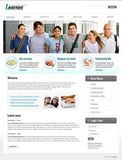 Learner Education Joomla Templates by Di