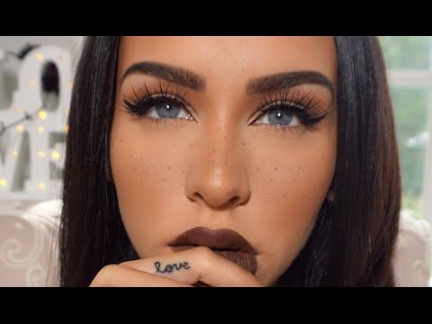 FALL MAKEUP | Simple Eyes & FAUX Freckles - YouTube