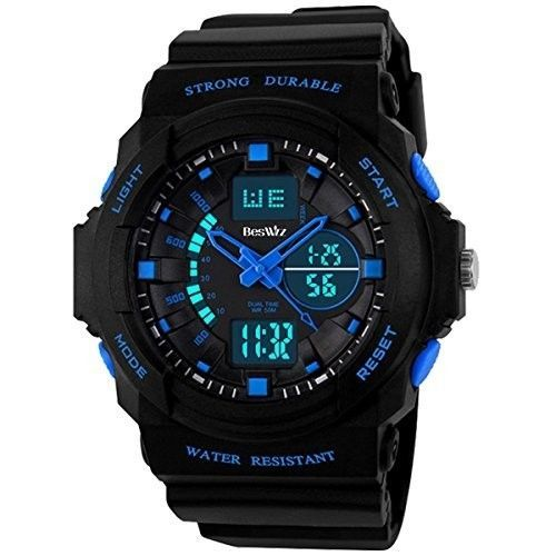 Watch-Water-Resistant-Electronic-Sport-Watches-Child-Blue-Digital-LED-New