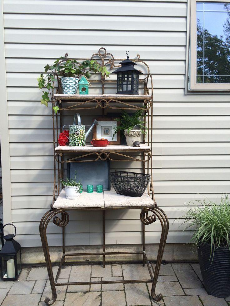 Bakers Rack Patio | Outdoor Patio Bakers Rack Decor Idea... | All |