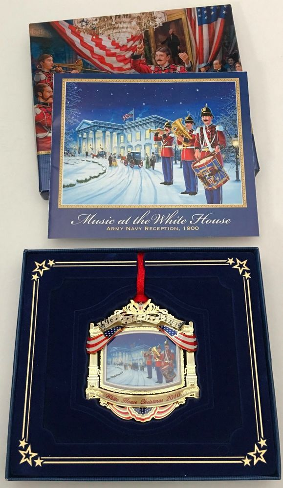 The White House Christmas Ornament 2010 Honoring McKinley Army Navy Reception  #WhiteHouseHistoricalAssociation