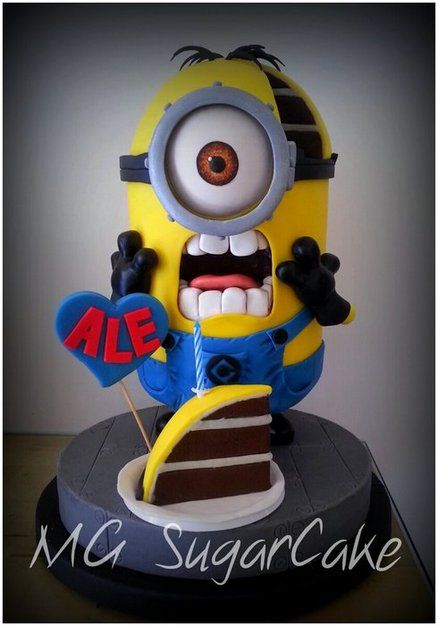 MINION - by MGsugarcake @ CakesDecor.com - cake decorating website