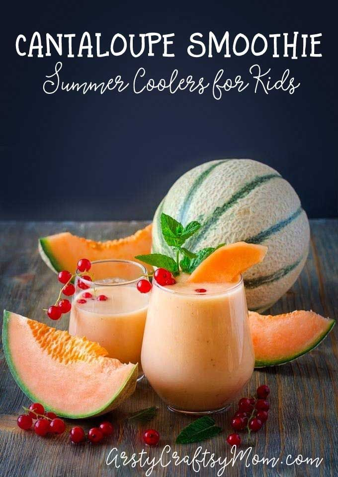 It's normal for kids to lose their appetite during summer. This Healthy Cantaloupe Banana Smoothie is nutritious and yummy, and perfect for a hot  day!