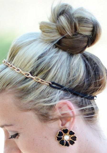Braided Top Knot with Plaits by myshineproject #Hair #Top_Knot