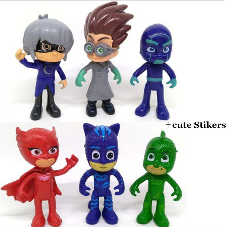 6pcs/Set Kid's Masked Pajamas Hero Action Figure Toys PJ Masks Owlette Catboy Gekko Baby Gift Collection Pj Mask Brinquedo Toys