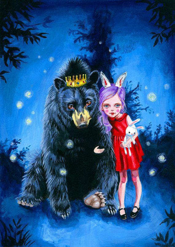 King of Bears art print by JulieFilipenko